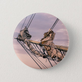 Detail of a sailing ship 6 cm round badge