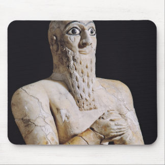 Detail of a statue of Itur-Shamagen Mouse Pad