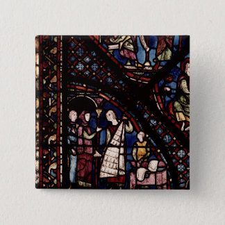 Detail of a window 15 cm square badge