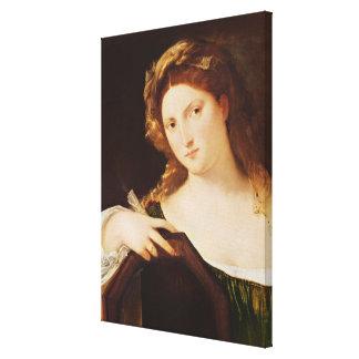 Detail of Allegory of Vanity Canvas Print