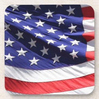Detail of American Flag Coasters