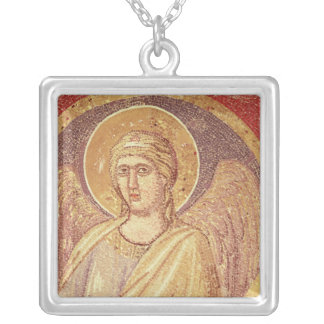 Detail of an angel from the Navicella Silver Plated Necklace