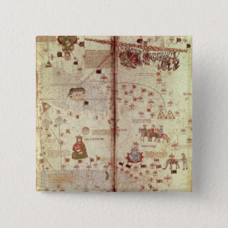 Detail of Asia from the Catalan 15 Cm Square Badge