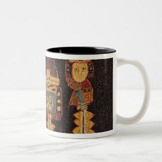Detail of Burial cloth, Paracas Tribe Two-Tone Coffee Mug