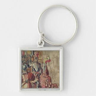 Detail of Charles V  on horseback Key Ring