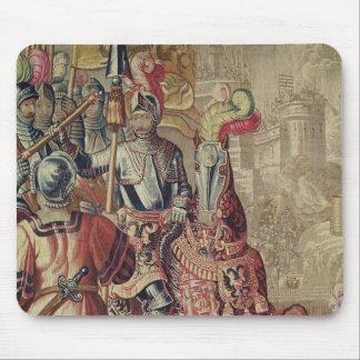 Detail of Charles V  on horseback Mouse Mat