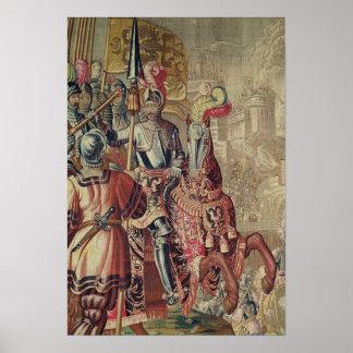 Detail of Charles V  on horseback Poster