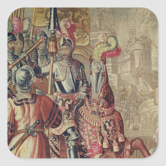 Detail of Charles V  on horseback Square Sticker