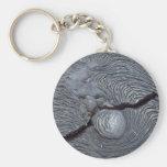 Detail of cracked lava, Bartolome Island, Galapago Basic Round Button Key Ring