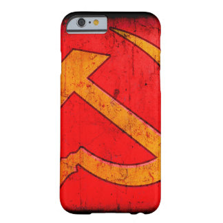 Detail of distressed Hamme & Sickle design Barely There iPhone 6 Case