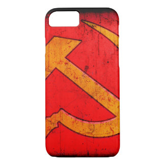 Detail of distressed Hamme & Sickle design iPhone 8/7 Case