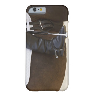 detail of female dressage rider on horse barely there iPhone 6 case