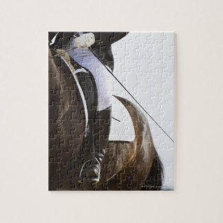 detail of female dressage rider on horse jigsaw puzzle
