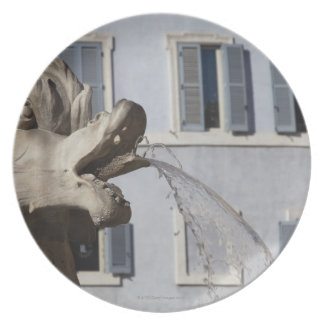 detail of fish on the Fontana de la Pantheon in Dinner Plate