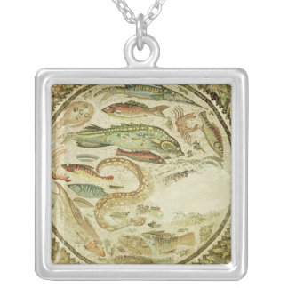 Detail of fish, The Four Seasons, from Vega Baja Silver Plated Necklace
