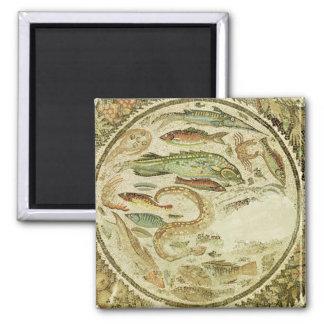 Detail of fish, The Four Seasons, from Vega Baja Square Magnet