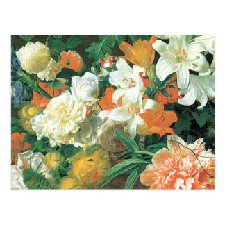 Detail of Flowers in a Terra Cotta Vase Postcard