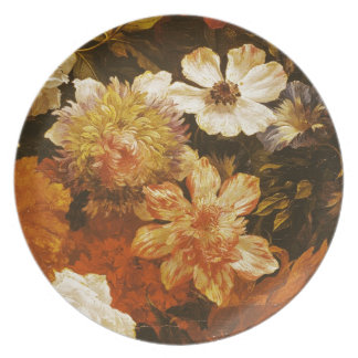 Detail of Flowers (oil on canvas) Party Plates