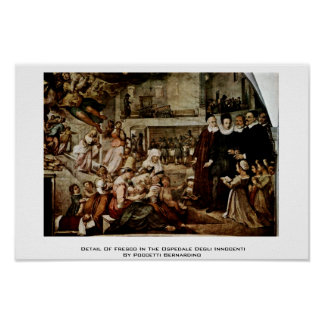 Detail Of Fresco In The Ospedale Degli Innocenti Print