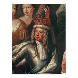 Detail of George I from the Painted Hall Postcard