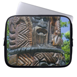 Detail of Kanak totem pole, Noumea, New 2 Laptop Sleeve