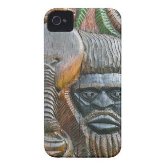 Detail of Kanak totem pole, Noumea, New Case-Mate iPhone 4 Cases