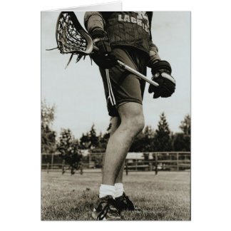 Detail of Lacrosse Athlete Card