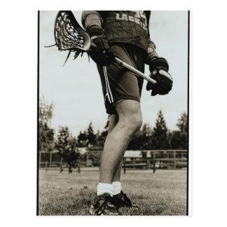 Detail of Lacrosse Athlete Postcard