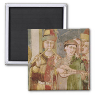 Detail of musicians from the Life of St. Square Magnet