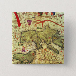 Detail of North Africa and Europe 15 Cm Square Badge
