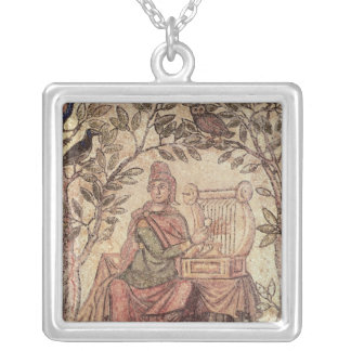 Detail of Orpheus charming the animals Silver Plated Necklace