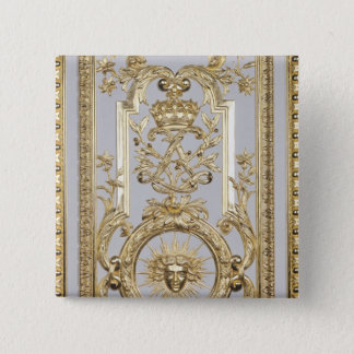 Detail of panelling 15 cm square badge