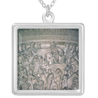 Detail of Pulpit, 1302-10 Silver Plated Necklace