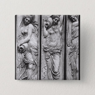 Detail of reliefs 15 cm square badge