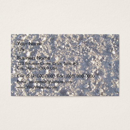 Detail Of Sand Texture With Small Stones Business Card