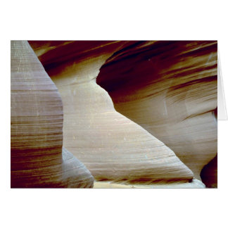 Detail of sandstone, Antelope Canyon, Page, Arizon Card