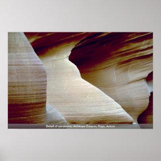 Detail of sandstone Antelope Canyon Page Arizon Print