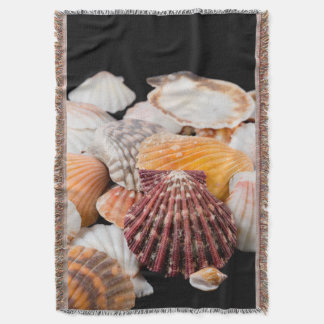 Detail Of Seashells From Around The World 2 Throw Blanket