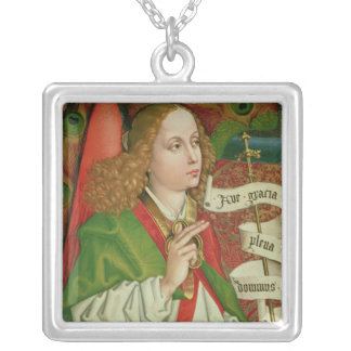 Detail of the Archangel Gabriel Silver Plated Necklace