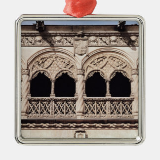 Detail of the arches of the loggia, 1488-96 Silver-Colored square decoration