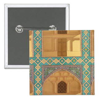 Detail of the Courtyard Arcades in the Medrese-i-S 15 Cm Square Badge