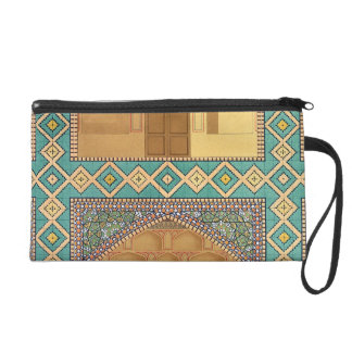 Detail of the Courtyard Arcades in the Medrese-i-S Wristlet Purse