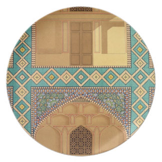 Detail of the Courtyard Arcades in the Medrese-i-S Dinner Plate