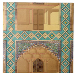 Detail of the Courtyard Arcades in the Medrese-i-S Tile