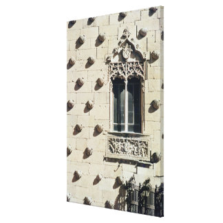 Detail of the exterior of the Casa de la Conchas Canvas Print