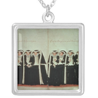 Detail of the Funeral Procession Silver Plated Necklace