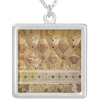 Detail of the Gallery of Mirrors Silver Plated Necklace