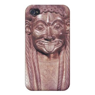 Detail of the gorgon handle from a krater cases for iPhone 4