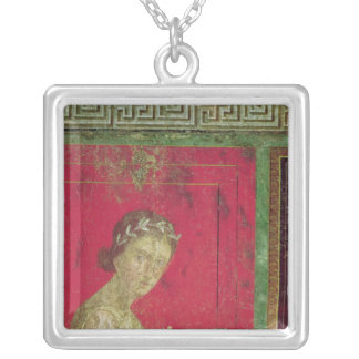 Detail of the Initiate, from the Catechism Silver Plated Necklace