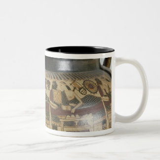 Detail of the 'Krater of Eurytios' Two-Tone Coffee Mug